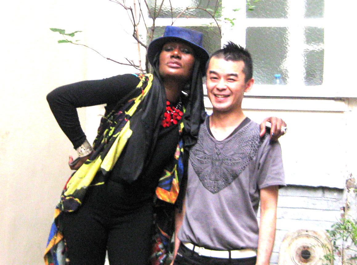 Avec Grace Jones chez M.Alaïa!!